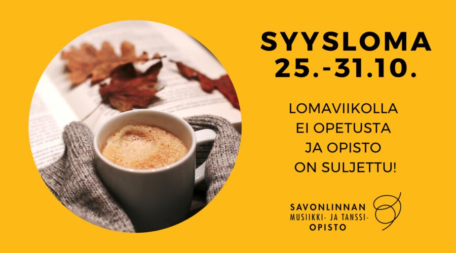 SYYSLOMA 25.-31.10.